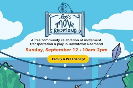 Banner for Let's Move Redmond Sept 12, 2021