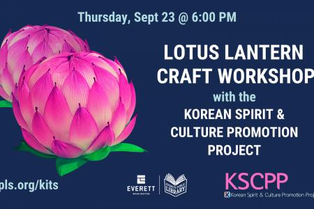 Banner for Lotus lantern craft workshop Sept 23 2021