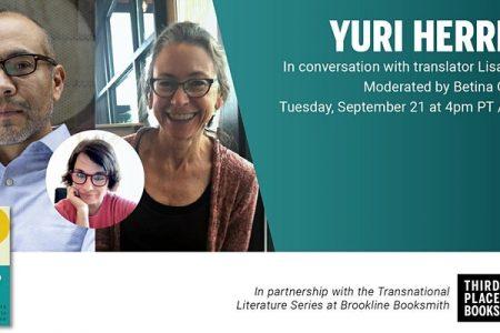 Banner for Yuri Herrera and Lisa Dillman with Betina González — Three Novels