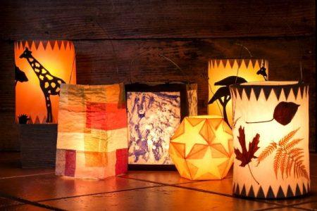 homemade paper lanterns